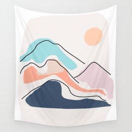 Minimalistic Landscape III Wall Tapestry