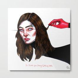 Lorde // Ribs Metal Print