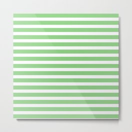Pastel Green Stripes Metal Print