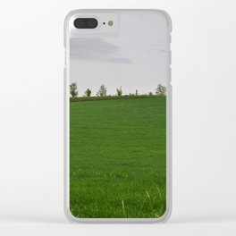 Beautiful spring landscape with hills in Tuscany countryside, Italy Clear iPhone Case