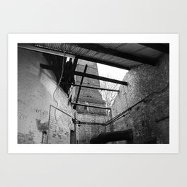Decay- roof Art Print