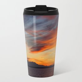 marvellous sunset over the sea Travel Mug