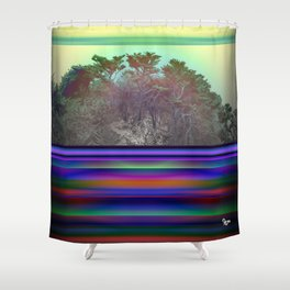Point Lobos By Kenny Rego Shower Curtain