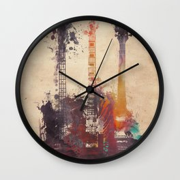 guitars 3 Wall Clock