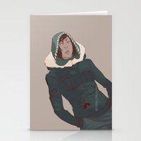 legend of korra Stationery Cards featuring Korra by Alex Alarcon
