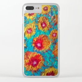 The Golden Poppies Clear iPhone Case
