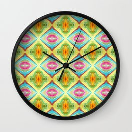 94 - colour abstract pattern Wall Clock