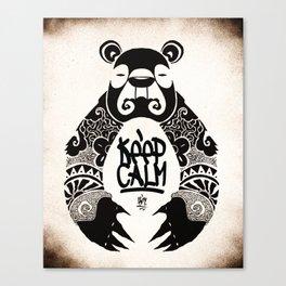 Keep Calm Bear Canvas Print