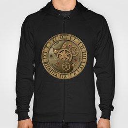 Steampunk clock gold Hoody