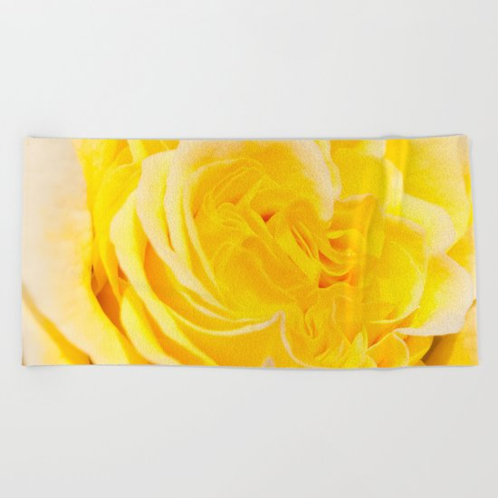 A Touch of Yellow #Rose #1 #art #society6 Beach Towel