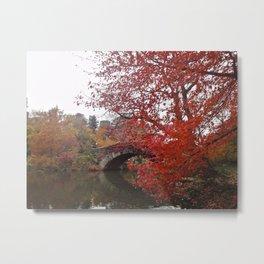 Gapstow Bridge in the Fall Metal Print
