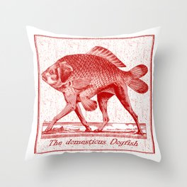 IF FISHES HAD LEGS (red) Throw Pillow