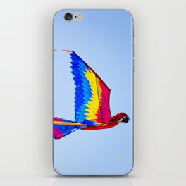 Macaw Parrot Kite Flying at Indian Kite Festival iPhone Skin