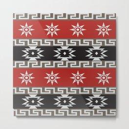 American Native Pattern No. 184 Metal Print