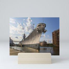 USS Wisconsin Mini Art Print