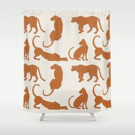Leopard Block Party Shower Curtain