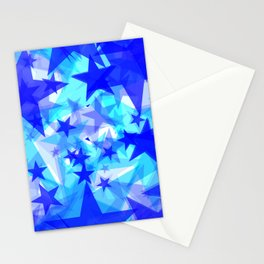 Glowing starfish on a light background in projection and with depth. Stationery Cards