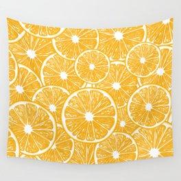 Orange slices pattern design Wall Tapestry