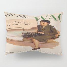 Vintage poster - WAC Pillow Sham