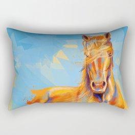 Obedient Spirit - Horse portrait Rectangular Pillow