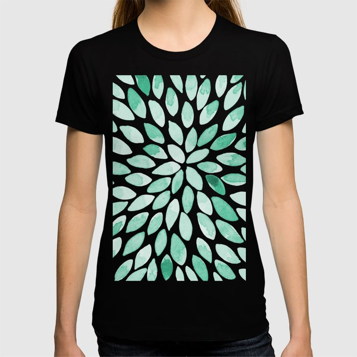 Watercolor brush strokes - aqua T-shirt