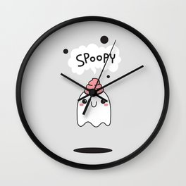 Spoopy Ghost Wall Clock