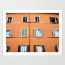 All I see is orange | Architecture photography print | Bologna Italy Art Print