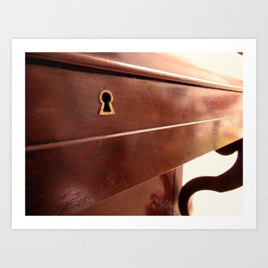 Secret lock Art Print