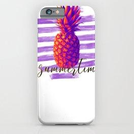 Beachy Summertime Pineapple iPhone Case