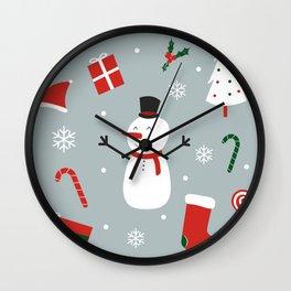 Yay Christmas! Wall Clock