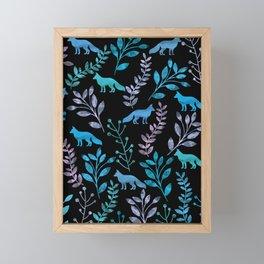 Watercolor Floral & Fox IV Framed Mini Art Print