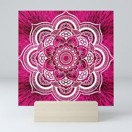 Mandala Hot Pink Colorburst Mini Art Print