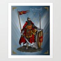 Caballero Heráldico Art Print
