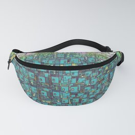 Tree Town - Magical Retro Futuristic Landscape Fanny Pack