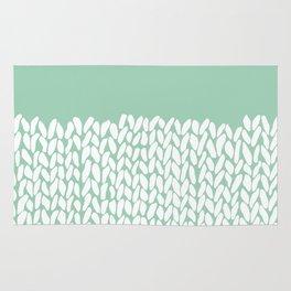 Half Knit Mint Rug