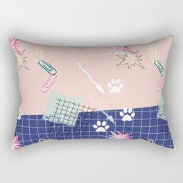Memphis.Colorful retro pattern. Rectangular Pillow