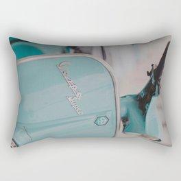 Mint Vespa  Rectangular Pillow