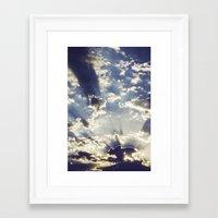 oslo Framed Art Prints featuring Oslo Sky  by Håkon Jørgensen