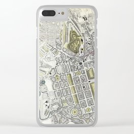Plan of Edinburgh, Scotland - 1834 Clear iPhone Case