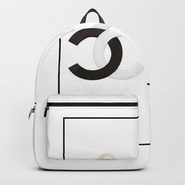 coco vintage earrings black and white Backpack