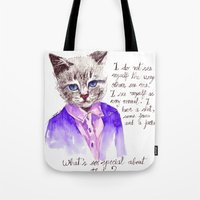 karl lagerfeld Tote Bags featuring Fashion Mr. Cat Karl Lagerfeld and Chanel by Smog