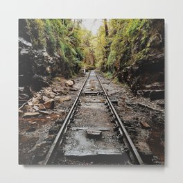 Abandoned Train Tracks Metal Print