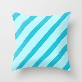 Minty Stripes Throw Pillow