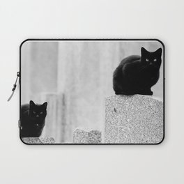 Black cats in a Cemetery Laptop Sleeve