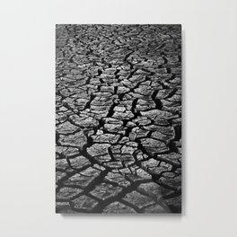 Cracked Monochrome Metal Print