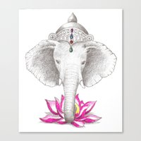 ganesh Canvas Prints featuring Ganesh by Tammy Liu-Haller