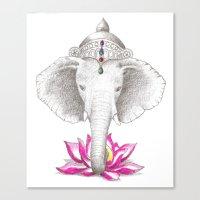 ganesh Canvas Prints featuring Ganesh by Tammy Liu-Haller