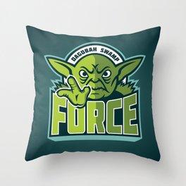 Dagobah Swamp Force - Teal Throw Pillow
