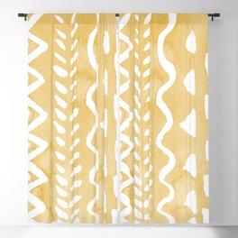 Loose bohemian pattern - yellow Blackout Curtain