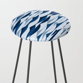 Glitch Waves - Classic Blue Counter Stool
